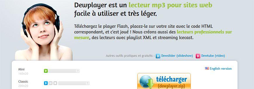 Utiliser le Dewplayer sur son site Drupal 7